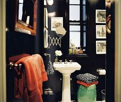 Paint a smaller bathroom all one color to make it look bigger.