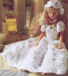 Another simple wedding dress for Barbie with diagram