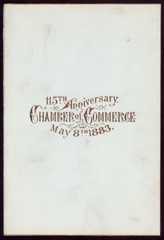 Chamber of Commerce Dinner 1883