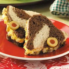 cute little egg salad finger sandwiches