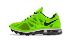 Nike Air Max+ 2012 Electric Green/Black–White