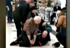 Police Officer Gets Into Struggle with Thief at a Mall. Then a 74-Year-Old Ex-Karate Instructor Steps In. Bet the thief didn't see that coming.