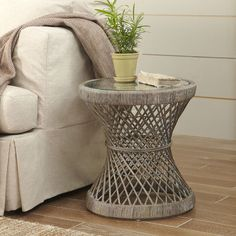 Ridgevale Rattan Side Table #birchlane   24 in round