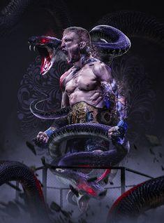 'TJ Dillashaw The Python Snake Art' Poster by Desire-inspire Wwe Wallpapers, Sports Wallpapers, Muay Thai, Jiu Jitsu, Dojo, Wwe Lucha, Tj Dillashaw, Ufc Boxing, Boxing Workout