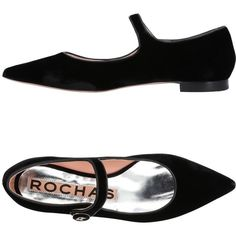 Rochas Ballet Flats (1.390 BRL) ❤ liked on Polyvore featuring shoes, flats, black, black ballet flats, ballet shoes, ballet pumps, black ballet pumps and black ballet shoes