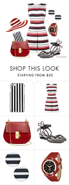 """red black & white contest"" by leeann829 ❤ liked on Polyvore featuring MICHAEL Michael Kors, Dolce&Gabbana, Chloé, Pierre Hardy, Kate Spade, Glam Rock and Salsa"