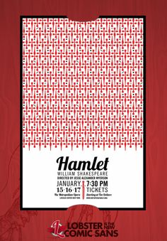Lobster Hamlet - Lobster is the new Comic Sans #lobsteristhenewcomicsans
