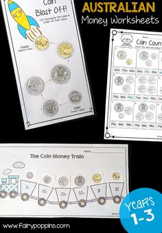 These fun Australian money worksheets help kids learn about Australian coins and notes. They are great for kids in year one, year two and year three. They also align with the Australian curriculum. Money Activities, Money Games, Hands On Activities, Learning Activities, Kids Learning, Maths Resources, Early Learning, Teaching Money, Teaching Math