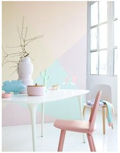 Pastel colors: How to set up pastel shades - Baby room wall decoration - # . Indian Home Interior, Minimalist Home Interior, Cafe Interior, Best Interior Design, Minimalist Decor, Interior Design Living Room, Natural Interior, Interior Livingroom, Classic Interior