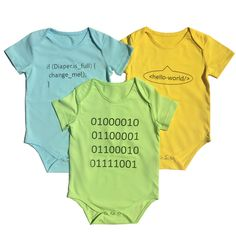 Future Coder Baby Bodysuit Bundle - Organic Cotton 3-Pack
