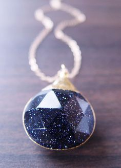 Midnight Galaxy Necklace <3
