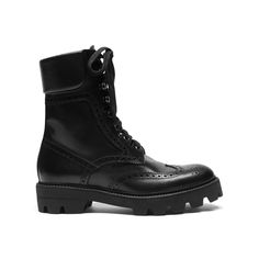 Shop the England Brogue Boot in Black Smooth Calf at Mulberry.com. This lace-up boot with its brogue detailing on the toe-cap makes a truly British style. They can be worn slightly open with the laces tied around the ankle for an even more laid-back look. The black rubber sole has been custom moulded and studied to leave graphic tracks. Conceived as a unisex style, they have been designed to be worn by women and men alike.