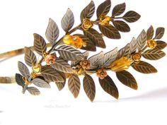 Bridal veil headband accessory wreath wreath by ArtEraBridalVeil, $120.00
