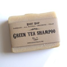 Green Tea Soap Shampoo  Unscented Soap Herbal Soap by RightSoap, $6.00