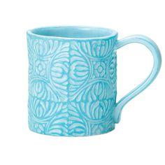 Tile Mug in Aqua (Set of 6)