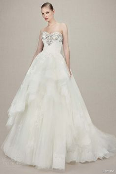 enzoani 2016 kylee strapless sweetheart ball gown alencon lace wedding dress beaded embroidered bodice