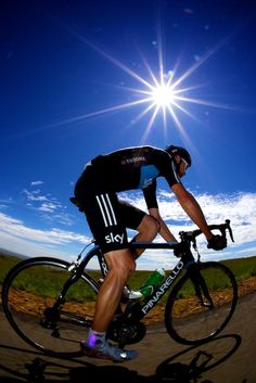 Chris Froome enjoying the sun in South Africa.