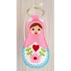 Babushka doll keyring PINK   #russiandoll #matryoshka #dollsindolls #decor #traditional #kids #toys #handmade