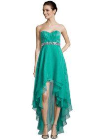 Rückansicht von Luxuar - DBustierkleider in Smaragdgrün - 1