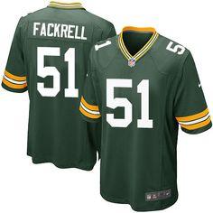 Men's Nike Green Bay Packers #51 Kyler Fackrell Game Green Team Color NFL Jersey