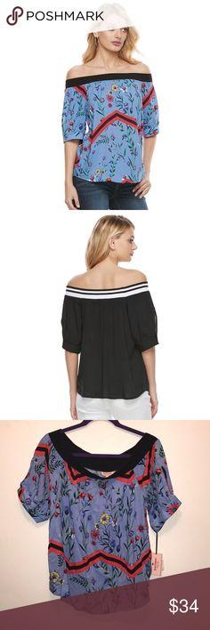 Juicy Couture Print off the shoulder top Juicy Couture Print off the shoulder top Juicy Couture Tops