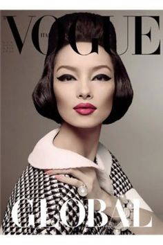 fei fei Sun is the first asian model to appear solo on the cover of vogue italia.