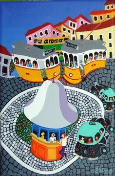 Portugal ~ J. B. Durão Portugal, Art Story, Amazing Street Art, Political Art, Photography Illustration, Naive Art, Abstract Landscape, Vintage Travel, Travel Posters