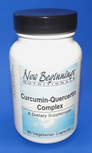 Curcumin-Quercetin Complex is a synergetic formula of natural ingredients that supports healthy inflammatory and histamine response for the intestinal mucosa and throughout the body. The primary active ingredients contained in Curcumin-Quercetin Complex are:    Turmeric (Curcumin), Quercetin and Bromelain.