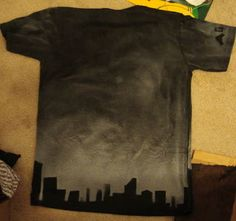 diy bleach shirt skyline. love this idea! I may have several of these in my future