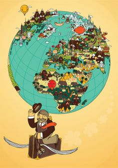 Love this map kids fun and learning pinterest illustrated around the world gumiabroncs Images