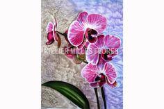 Hodvábny obrázok / Silken picture, ručne maľovaný hodváb / Hand-painted silk Painted Silk, Hand Painted, Silk Painting, Flowers