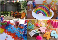 Fiesta infantil arcoíris: magia, color y diversión