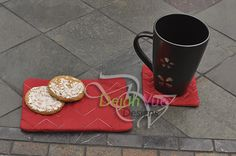 Chevron Coaster Mug Rug ITH Embroidery Design Set - Dejah Vue Designs