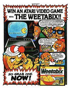 Weetabix Atari Video Game Ad 1984
