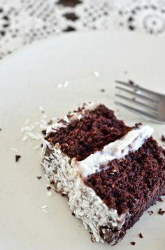 Les bonheurs d'Anne & Alex: Gâteau au chocolat et crème de noix de coco (végétalien)