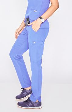 ) Made with our proprietary FIONx fabric, The Yola adds a polished look to any scr. Scrubs Outfit, Scrubs Uniform, Stylish Scrubs, Medical Uniforms, Uniform Design, Medical Scrubs, Nursing Clothes, Scrub Pants, Skinny Fit