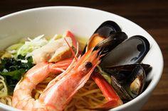 Ramen Yebisu (Williamsburg), Yebisu Ramen, Seafood broth based soup ramen with prawn,  snow crab, mussel, scallop, scallion, seaweed