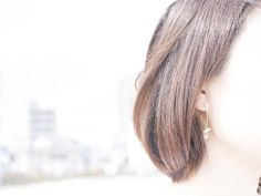 dolce ピアス   ¥25,000(in tax) #シェル #ラブラドライト #パール #K18  #shell #labradorite #pearl #K18