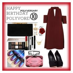 """Celebrate Our 10th Polyversary!♡"" by annadeiman ❤ liked on Polyvore featuring Gucci, Giuseppe Zanotti, Jimmy Choo, Givenchy, Lancôme, David Yurman, Topshop, Bling Jewelry, polyversary and contestentry"