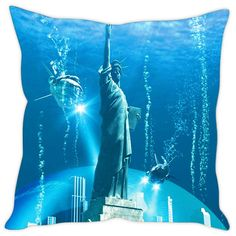 Sleep Nature's City Under Water Printed Cushion Covers Cushion Covers on Shimply.com