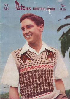 men knit tank top pattern - Google Search