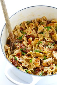 sundried tomato • chicken • farfalle