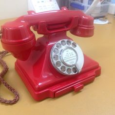 Very very rare British red 232 vintage telephone (1956) (at Abdy Antique Telephones)