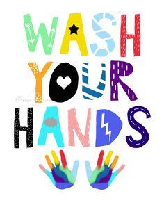 Kids Bathroom Art, Bathroom Posters, Bathroom Prints, School Bathroom, Small Bathroom, Funny Toilet Signs, Hand Washing Poster, School Murals, Art School