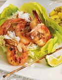 Recipe for Grilled Shrimp with Mango Salsa, as seen in the January 2007 issue of 'O, The Oprah Magazine.'