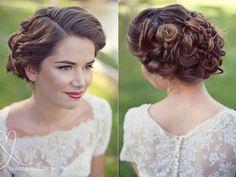 Beautiful wedding hair! - soft and pretty up-do. Via Love Life Studios.