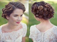 Beautiful wedding hair! - soft and pretty up-do. Via Love Life Studios.