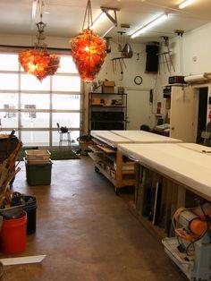 1st floor glass art studio.