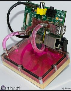 Overclocking your Raspberry Pi to 800MHz to mainstream? How about water cooling? Overkill? Yeah but it looks cool. Wet Pi
