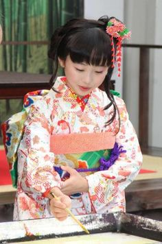 Miyu Honda (Japanese child actress) in kimono